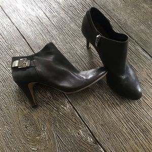 Vince Camuto Valino Brown Leather Suede Ankle Boot